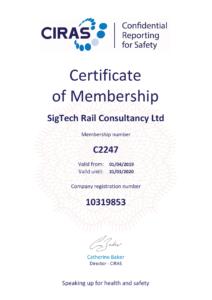 CIRAS certificate